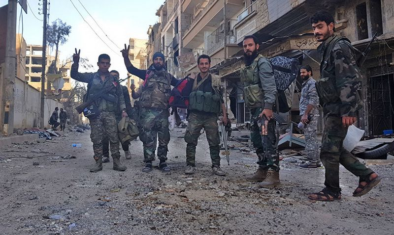 Government troops in Deir ez-Zor
