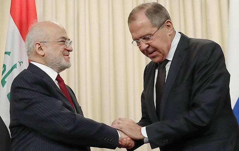 Iraqi Foreign Minister Ibrahim al-Jaafari and Russian Foreign Minister Sergei Lavrov