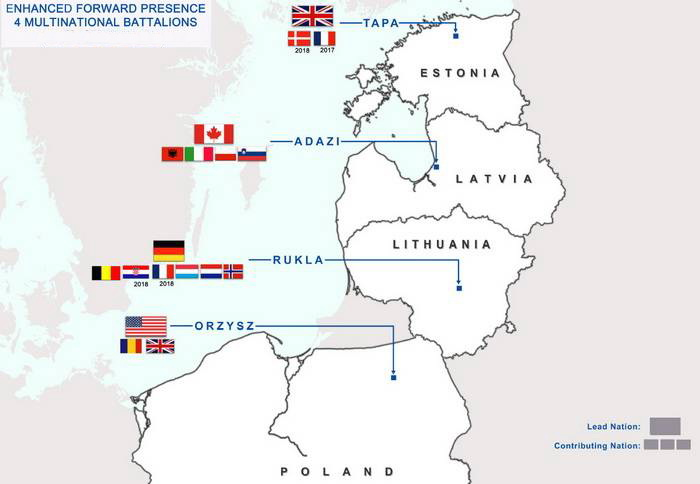 Plans of deployment of NATO's new units in the CEE and Baltic States