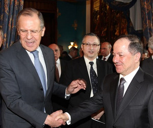 Russia's Foreign Minister Sergei Lavrov is meeting Massoud Barzani in Moscow