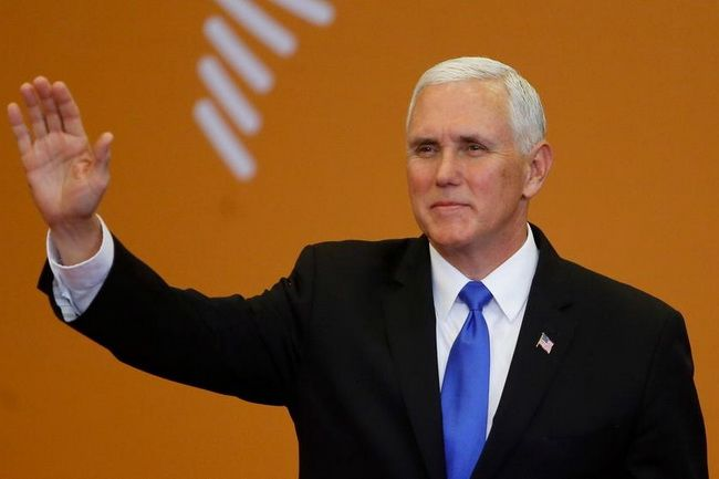 US Vice President Mike Pence at the Summit of the Americas