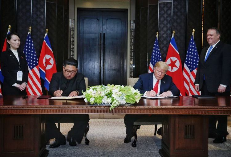 On June 12, 2018, the leaders of the DPRK and the United States signed a joint statement at the Singapore Summit