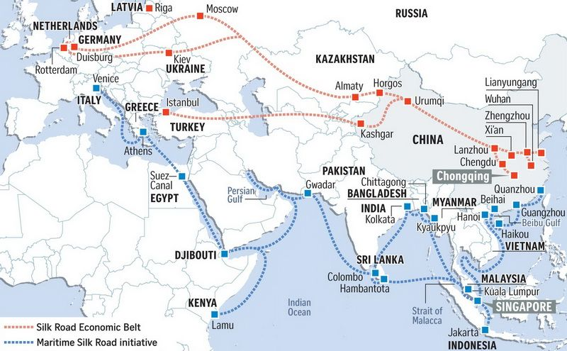 "The ""One Belt, One Road"" initiative: ""The Silk Road Economic Belt"" and ""The 21st Century Maritime Silk Road"""