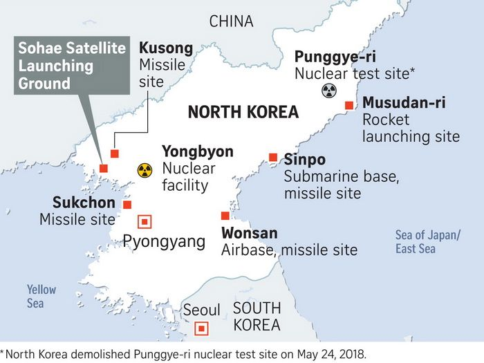 North Korea's nuclear and missile sites
