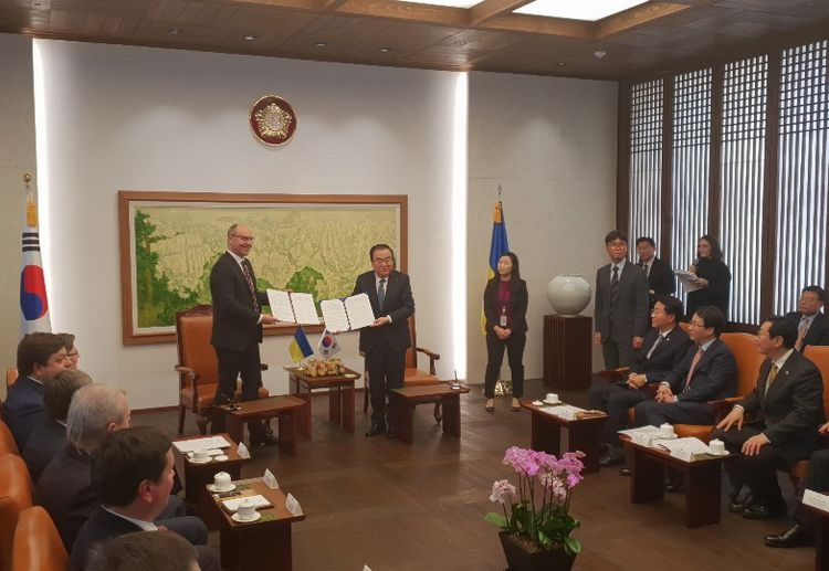 On December 2018, was signed a memorandum of understanding between the Verkhovna Rada of Ukraine and the National Assembly of the Republic of Korea
