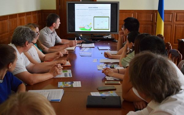 "Representatives of the Chinese company ""Xi'an ShaanGu Power Co., Ltd."" at a meeting at the State Agency for Energy Efficiency of Ukraine"