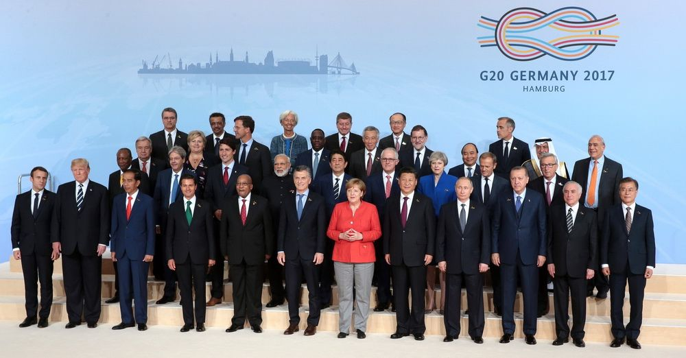 China's President Xi Jinping at the G20 summit in Hamburg