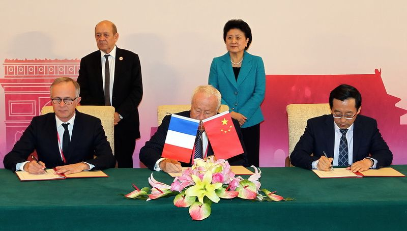 A meeting of China-France High Level Mechanism for Dialogue on People-to-People Exchanges