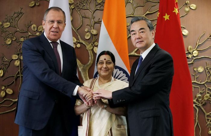 15th Meeting of the Foreign Ministers of Russia, India and China on December 11, 2017 in New Delhi