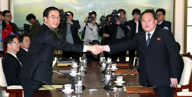 Inter-Korean high-level government talks were held on January 9, 2018