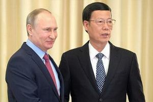 A meeting of the Vice Premier of State Council of China Zhang Gaoli with Russian President V. Putin, April 13