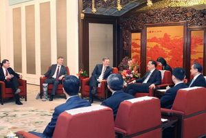 A meeting of the Chinese Premier Li Keqiang with delegation from the US Congress, April 10