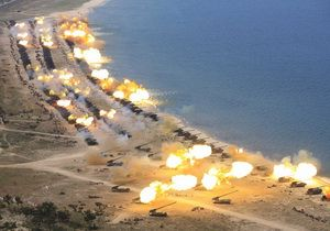 On 25 April, large-scale artillery trainings were held in the DPRK