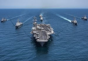 "Aircraft carrying strike group led by an aircraft carrier ""Carl Vinson"""