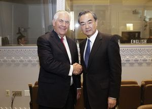Chinese Foreign Minister Wang Yi met with the US Secretary of State Rex Tillerson