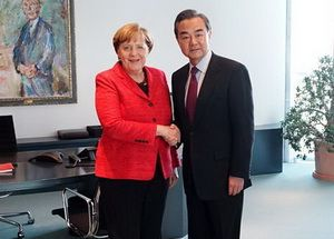 Chinese Foreign Minister Wang Yi met with the Federal Chancellor of Germany A. Merkel