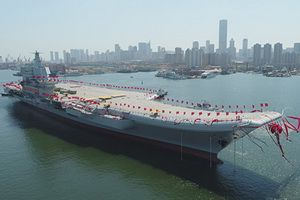 On 26 April the first fully China-make aircraft carrier was launched