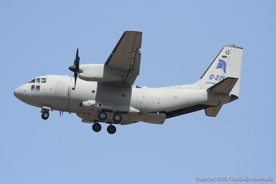 ТThe Alenia C-27J Spartan military transport aircraft