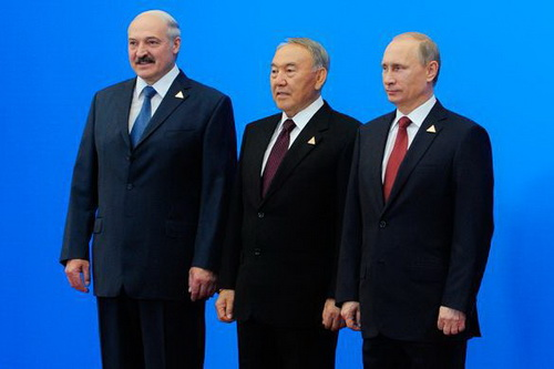 he presidents of Russia, Belarus and Kazakhstan Vladimir Putin, Alexandr Lukashenko and Nursultan Nazarbayev in Astana signed an agreement on establishment of the Eurasian Economic Union (EaEU)