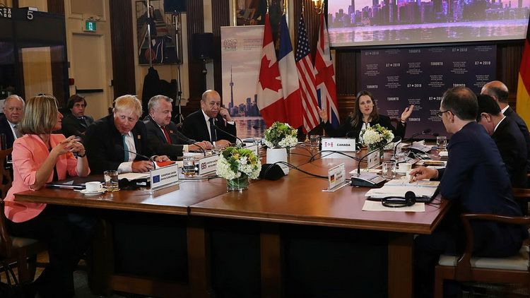 G7 Foreign Ministers in Toronto (Canada)