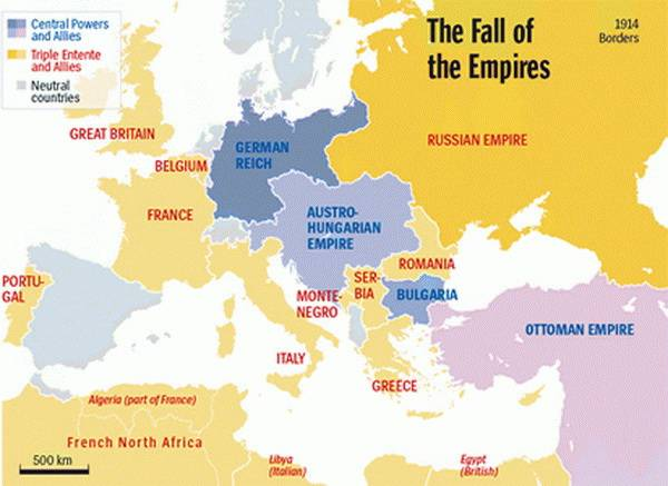 The First World War. The Fall of the Empires