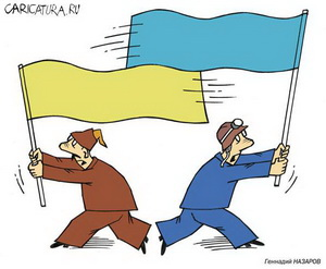 Ukraine is prone to split into two parts even more than Kyrgyzstan with its problem of the North and the South