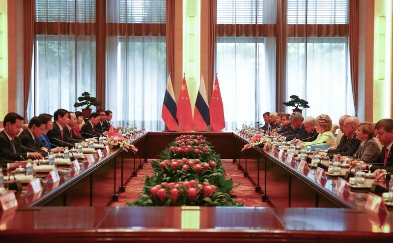 The 4th meeting of the cooperation committee between the National People's Congress of China and the Russian Parliament took place in Beijing, July 4, 2018