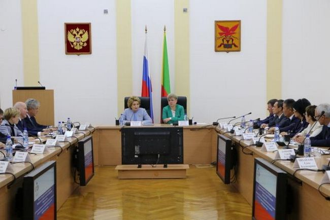 Chairman of the Federation Council of Russia Valentina Matvienko, Chita, Trans-Baikal Territory of the RF, July 3, 2018
