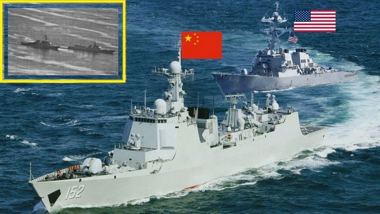 On September 30,2018 the Chinese destroyer Luyang made a close encounter with the US destroyer USS Decatur