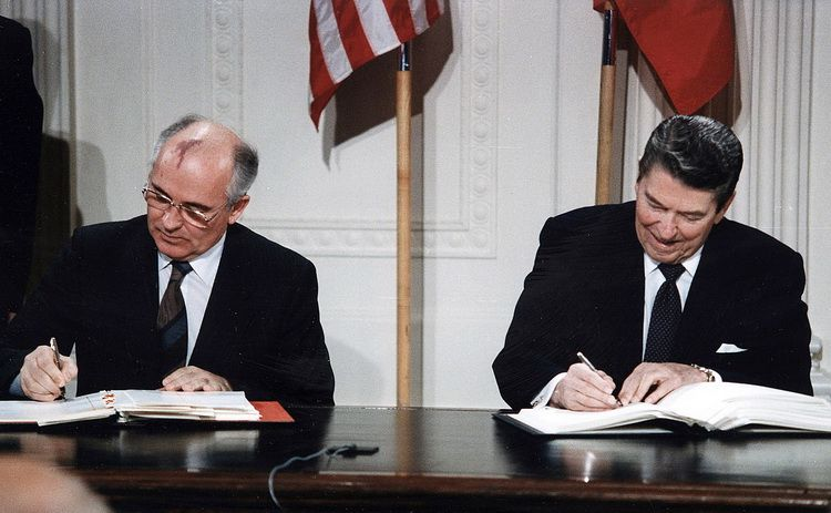The United States and Soviet Union signed the INF Treaty in 1987
