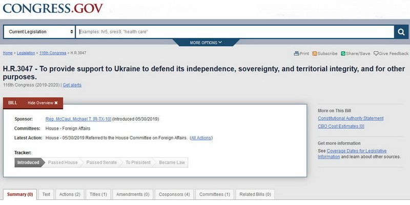 Ukraine's support is the basis of the US strategy for deterring Russia. All this objectively makes the United States the main ally of Ukraine