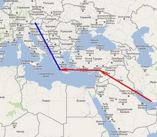"The pipeline, also known as the ""Islamic gas"" can compete with the South Stream and Nabucco"