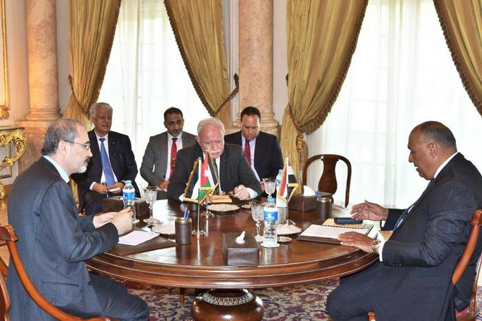 Summit of the Foreign Ministers of Egypt, Jordan and the Palestinian Authority, August 19, 2017 in Cairo