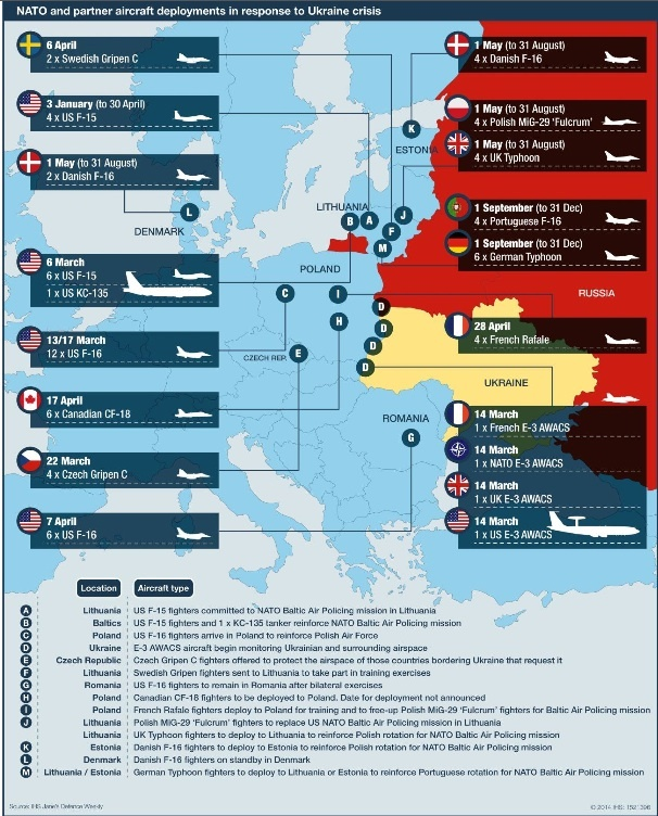 How the presence of NATO Air Forces in Europe has increased and how it will increase