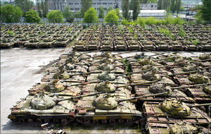 The main tanks of the AF of Ukraine are the Soviet T-64s