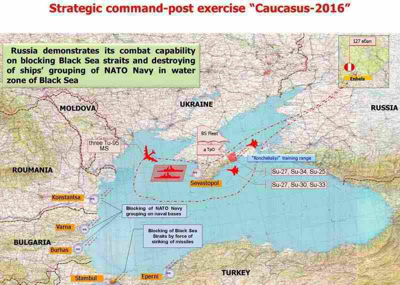 "SCPE ""Caucasus-2016"", mastering launching of cruise missiles (conditionally)"