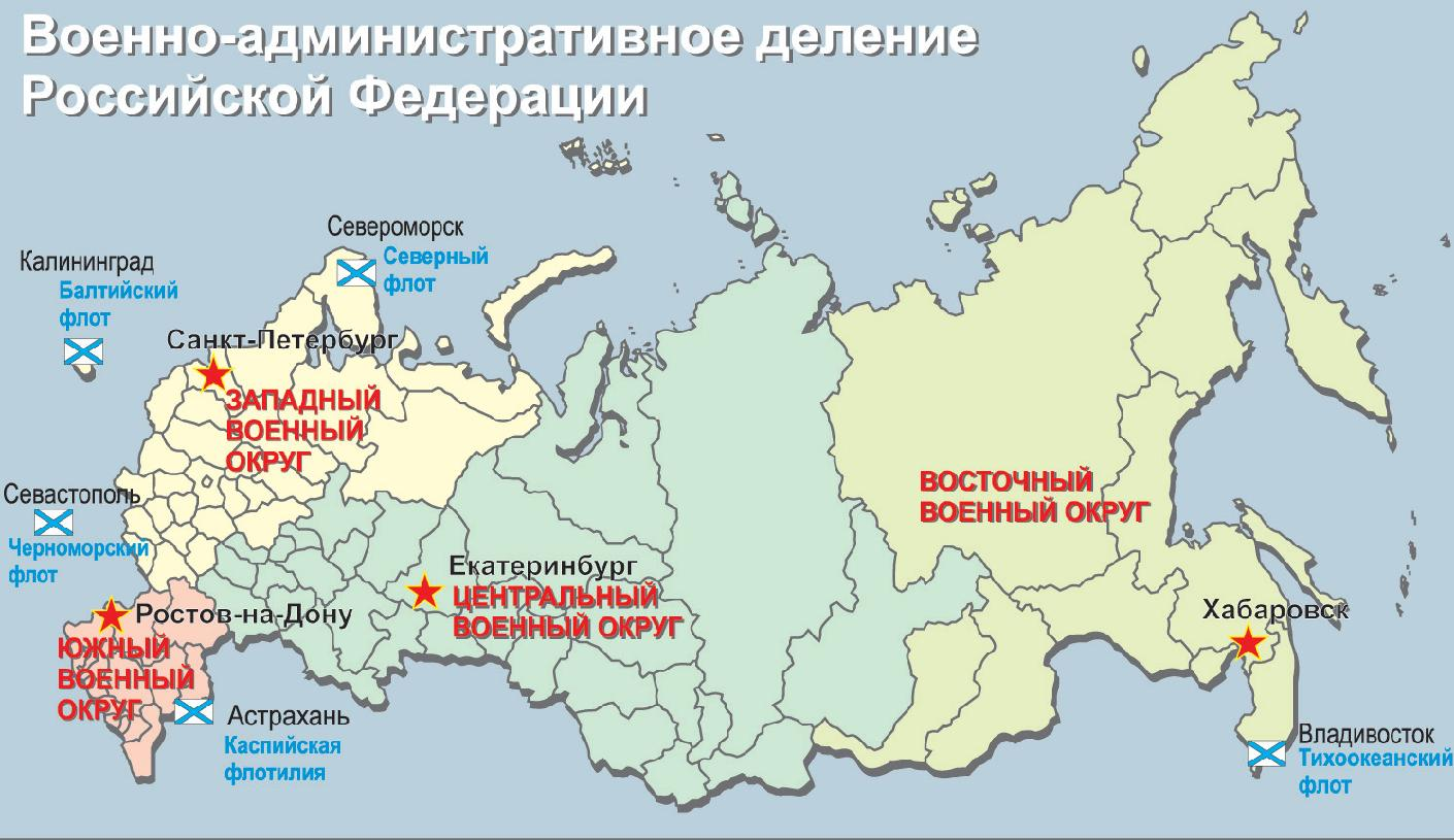 Military-administrative division of the Russian Federation