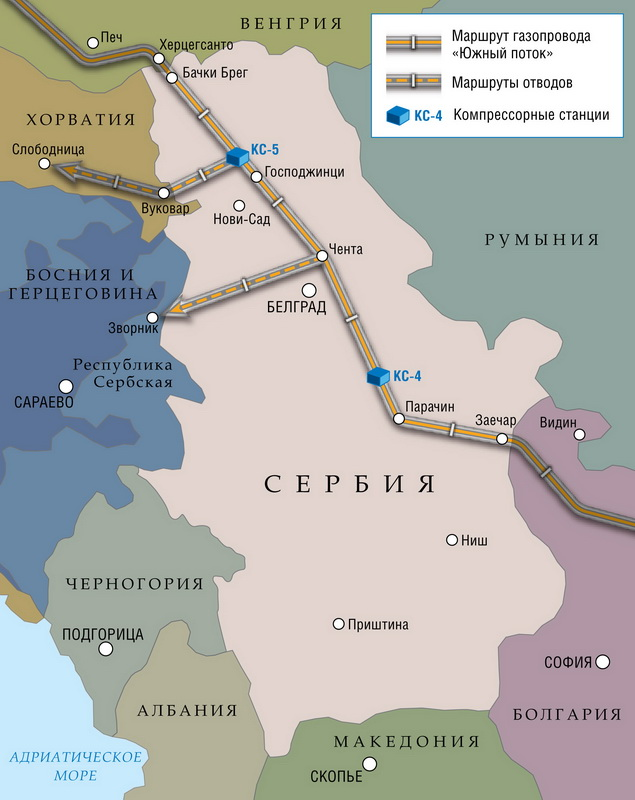 "Serbian section of the pipeline ""South Stream"""