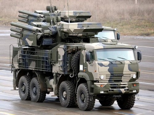 Pantsir-S (NATO reporting name - SA-22 Greyhound) - Russian ground-based self-propelled anti-aircraft missile and gun system (ZRPK)