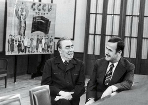 Hafez al-Assad was one of the most loyal and consistent friends of the Soviet Union. Leonid Brezhnev and Hafez al-Assad, 1980