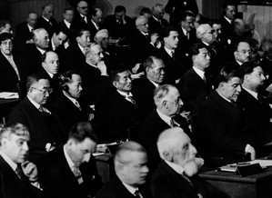 The meeting of the League of Nations