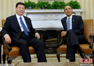 A meeting of the President of the United States of America Barack Obama with the President of China, the General Secretary of the Communist Party of China Xi Jinping