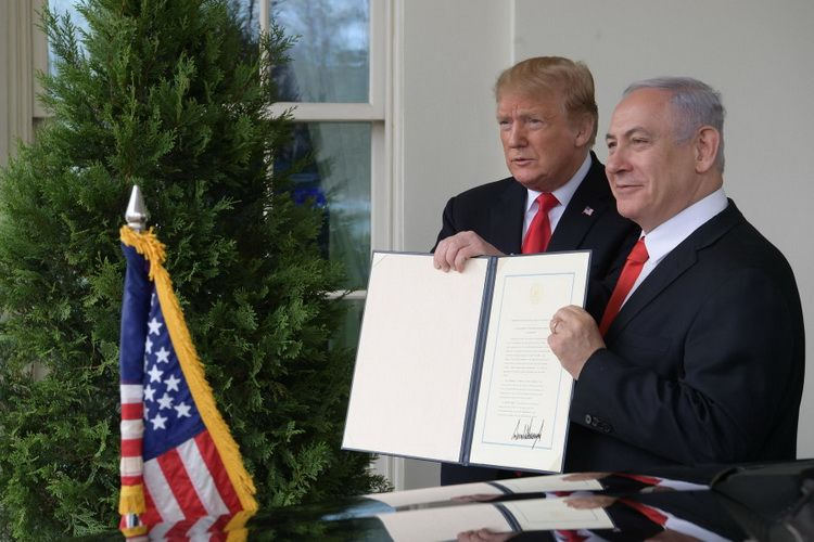 D. Trump's signing of the Proclamation on Recognizing the Golan Heights as Part of the State of Israel was meant to provide moral support to B. Netanyahu and his Likud Party