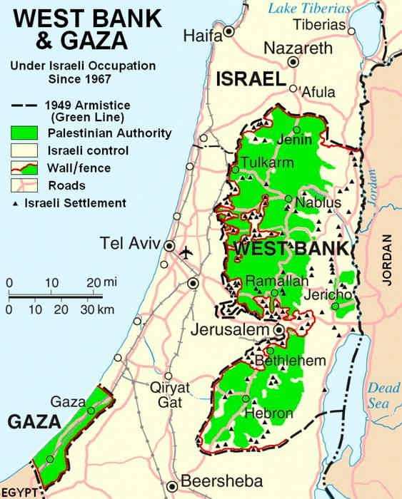 The West Bank and the Gaza Strip