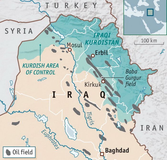 Kirkuk province accounts for about 40 % of the Iraqi oil reserves