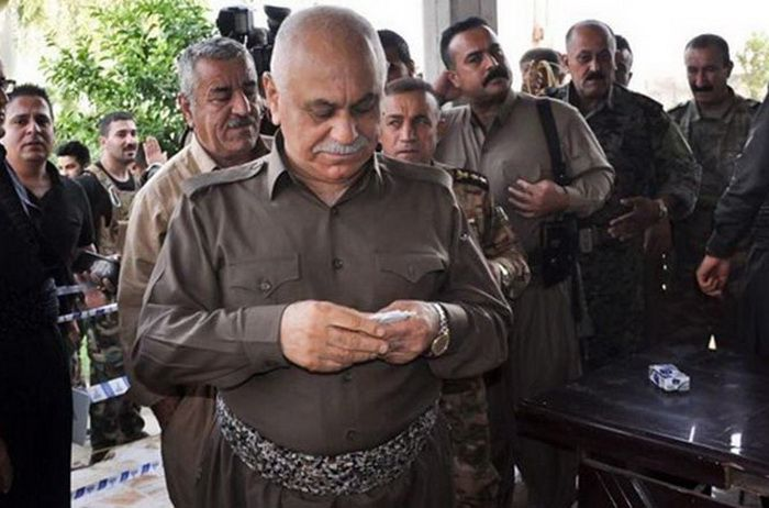Commander of the 70th Brigade of the Peshmerga forces, Sheikh Jaafar Mustafa