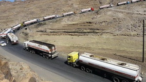Badly was blocked the road Sana'a-Marib, where hundreds of tanker trucks with diesel and gasoline had accumulated
