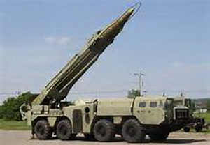 "Launcher for the tactical missiles R-17 (SS-1c ""Scud B"", the export version of R-300)"